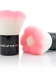 High Quality Synthetic Hair Pink Petal Makeup Blusher/ Powder Kabuki Brush