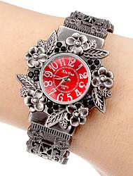 Mulheres Relógio de Moda Quartz Lega Banda Bracelete Cinza marca-