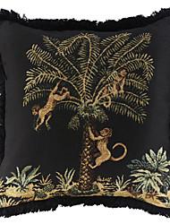 """18 """"Baum Jacquard Quasten Polyester / Baumwolle Dekorative Kissenbezug"""
