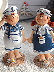 "6""Country Style Navy Couples Type Collectibles(2 PCS)"