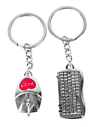 Personalized Engraved Gift Mouse and Keyboard Shaped Lover Keychain