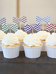 Bow Tie Cupcake Toppers / Médiator pour décoration de gâteau - Lot de 22 (couleur aléatoire, emballages non inclus)