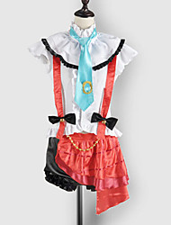 Inspired by Love Live Eri Ayase Video Game Cosplay Costumes Cosplay Suits / School Uniforms Patchwork White / Red SleevelessTop / Skirt /
