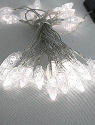 4.5M 3W 30 LED luce bianca LED striscia solare per Decorazioni di Natale