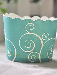 Verdes Cirrus Cupcake Wrappers - conjunto de 50