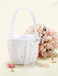 Starlight Flower Basket With Ribbon Bow Flower Girl Basket