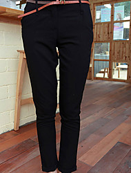 Folli Koreanisch Lässige Solid Color Slim-Pants
