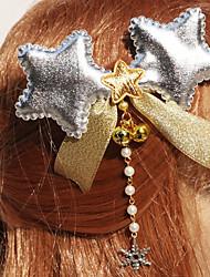 Silver Stars Weihnachten Kopfschmuck mit weißen Perlen