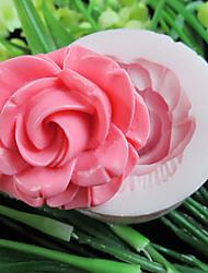 um buraco de flores de resina ferramentas artesanais açúcar moldes fondant molde flor silicone molde para bolos