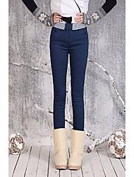 Beiruika casuale ispessisce dimagrisce Jeans (blu)