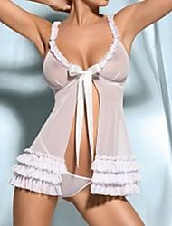 Donna sexy della cinghia Tanslucent Babydoll con G-stringhe