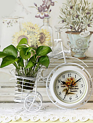 "11""H Country Style Bicycle Type Iron Tabletop Clock"