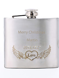 Personalized Father's Day Gift Love Pattern 5oz Metal Flask