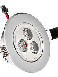 3W 3xHigh Мощность 285LM 6200K холодный белый свет светодиодные утопленный вниз свет - Серебряная гарантия (85-265В)