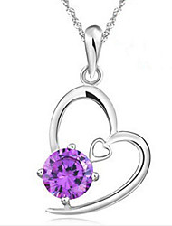 MISS U Women's Purple Necklace