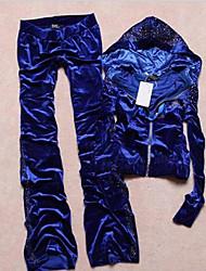Damenmode Rhinestone-Verschönerung Kapuzen Leisure Suit