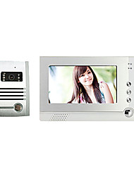 7 pollici TFT LCD visione notturna video del portello di controllo di accesso Phone System Set con Fotografare funzione