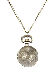 Mulheres Relógio de Bolso Quartz Lega Banda Vintage Bronze marca-