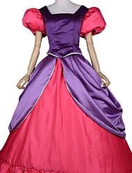 Étape Cendrillon Mal Sœurs pourpre et costume d'Halloween de Fuschia femmes satin