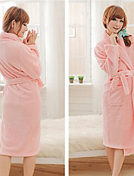 Bath Robe,High-class Pink Solid Colour Garment Thicken - One Size to Fit All