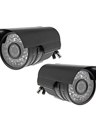 IR Outdoor 36IR Leds CCTV CMOS 540TVL Night Vision Waterproof Bullet Camera 2PACK