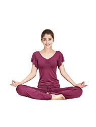 Dancewear Modal Ruffle Ärmeln V-Neck Yoga Top für Damen (weitere Farben)