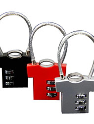 Tiny Man Wire-rope 3-digit Combination Lock (Random Color)