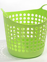 Contemporary Plastic Laundry Basket - 4 Colors Available