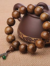 Medalhão naturais contas Machilus 14 Oração 15 milímetros aro dourado Pulseiras