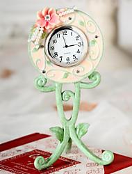"6 ""H Country Style Schöne Polyresin Tabletop Uhr"
