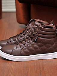 Costura Casual zapatos de alta Tendencia punto para hombres (Brown)