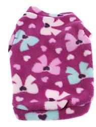 Dog Coat / Shirt / T-Shirt / Clothes/Clothing Purple Winter Animal