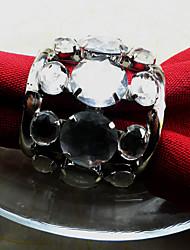 Noces d'argent Rond de serviette, Dia cristal / métal 4.5cm