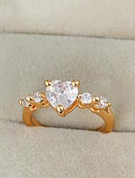 Yueli Frauen-18K Gold Zirkon Ring J0919