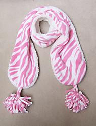 Mädchen Soft Pink Zebra Striped Coral Fleece Schal