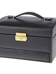 Preto de alta qualidade PU de couro Box Cosmetic