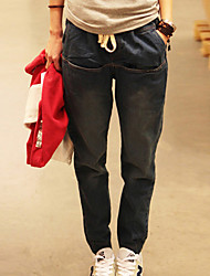 Folli Classic Pure Color Loose Harem Jeans