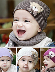 Dot Pattern Kid Cap Little Bear