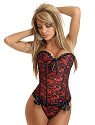 satin avec du plastique shapewear désossage corset (plus de couleurs) lingerie sexy de shaper