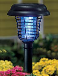 Purple and White Light LED Solar Light Plastic Mosquito Zapper Stake Light Garden Path Lighting