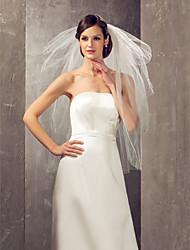 Four-tier Elbow Wedding Veil With Rhinestones