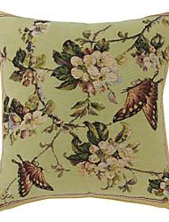 """18 """"Fleur de papillon Jacquard Polyester coussin décoratif couverture"""