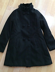 Mic Input Elegant Rabbit Hair Collar Tweed Coat With Belt(Black)