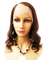 14inch Super Wave Right Part Indian Remy Hair U Part Wig