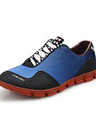 Chaussures Bleu Cuir Marche Femme