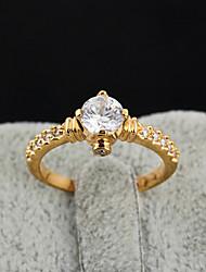 Yueli Frauen-18K Gold Zirkon Ring J1383