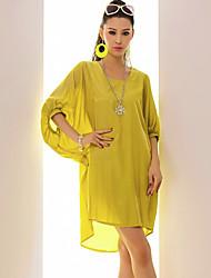 Women's Dresses , Polyester Casual GIMFI