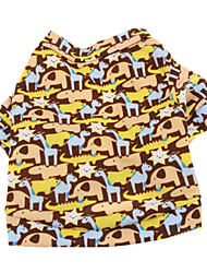 Dog Shirt / T-Shirt Brown Dog Clothes Summer Animal