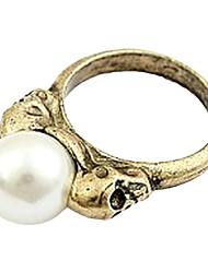Корейская версия ретро волны люди должны иметь реальный выстрел Женский Pearl Pearl Ring