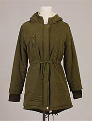 Женщин ватки случайных пальто Parka